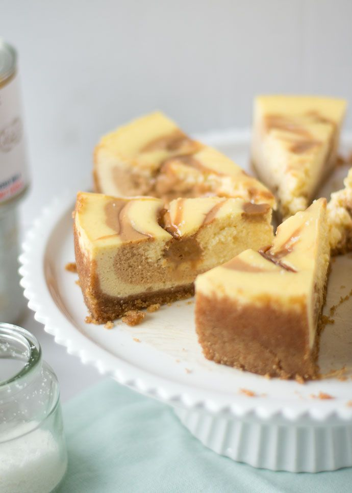 Salted dulce de leche cheesecake