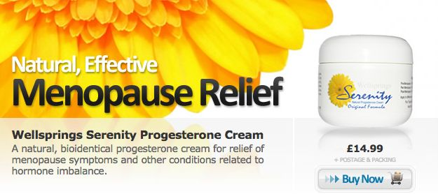 A natural, bioidentical progesterone cream used for relief of menopause symptoms and other conditions related to hormone imbalance.