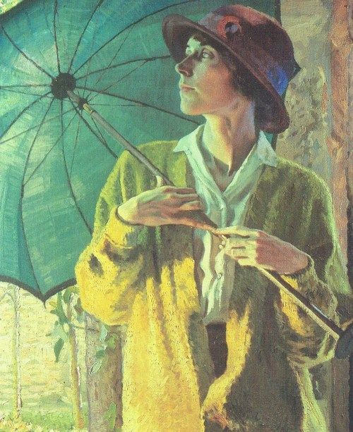 WILLIAM LEECH  THE SUNSHADE (c.1913)