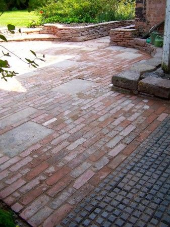 Reclaimed brick patio