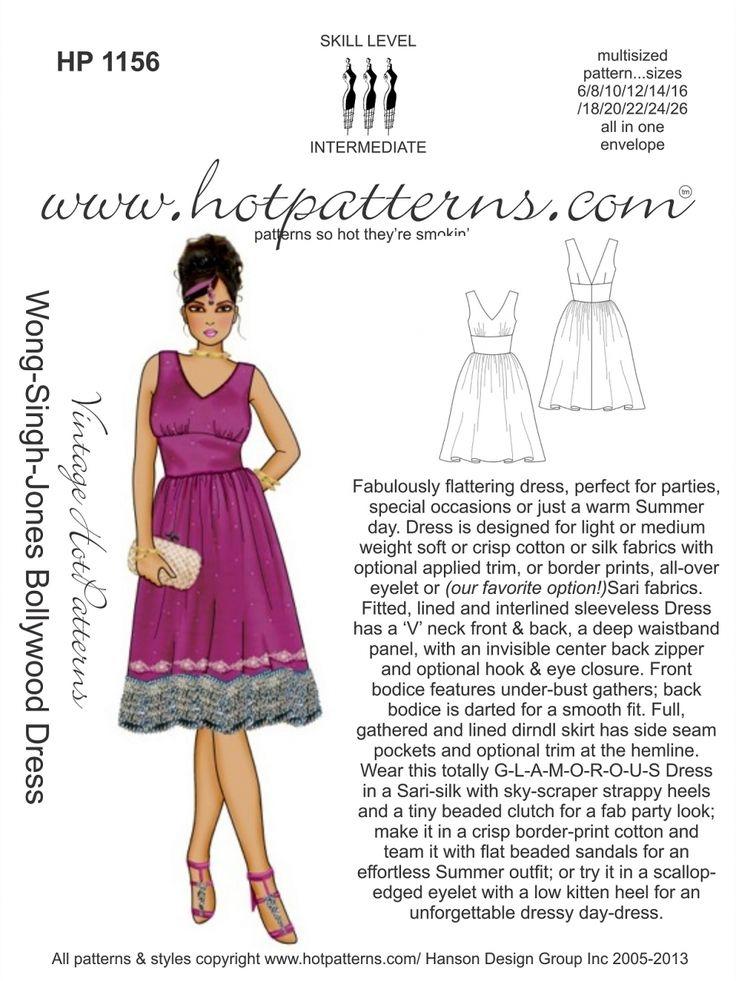 HotPatterns.com - HP 1156 Vintage WSJ Bollywood Dress, $16.95 (http://www.hotpatterns.com/hp-1156-vintage-wsj-bollywood-dress/)