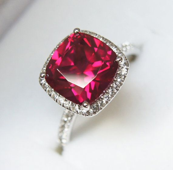 OMG!!! This might be the closest to a perfect ruby ring I've seen!. HUBBY GET THISSSSS