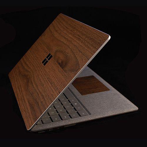 Microsoft Surface Laptop - Dark Oak Wood Skins
