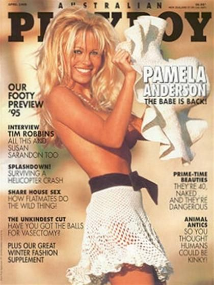 Playboy (Australia) April 1995 with Pamela Anderson on the cover of the magazine