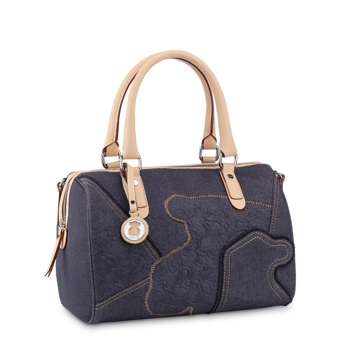 TOUS Kimberly Denim collection handbag. Denim combined with waterproof vinyl. 21cm. x 22cm. x 12cm. - 8 1/4 x 8 11/16 x 4 3/4.@TOUS Jewelry Washington DC
