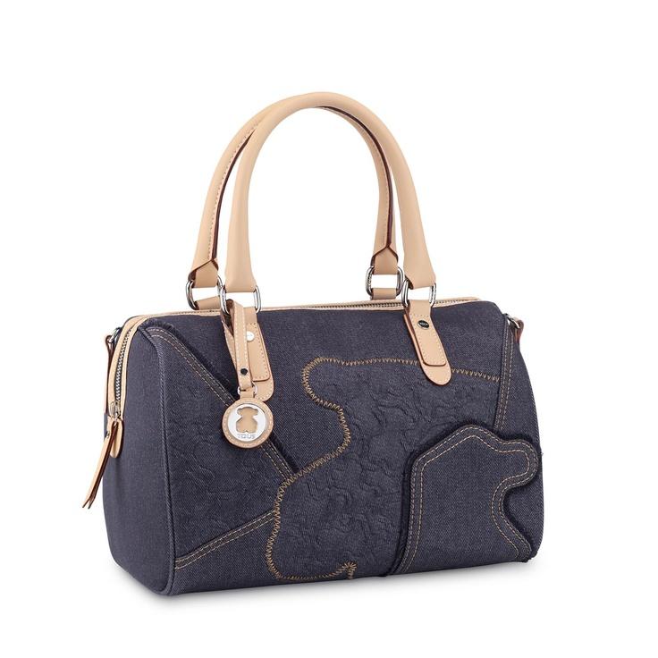 TOUS Kimberly Denim collection handbag. Denim combined with waterproof vinyl. 21cm. x 22cm. x 12cm. - 8 1/4 x 8 11/16 x 4 3/4.@TOUS Jewelry Washington DC
