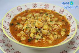 Garbanzos con gambas y arroz olla GM Ana Sevilla