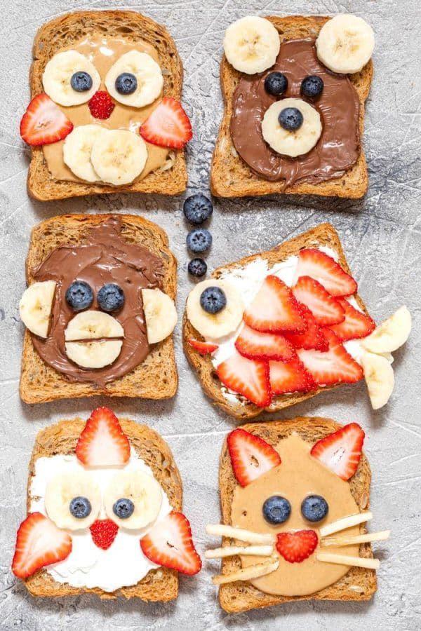 Lustiges Tier stellt Toast-Festlichkeiten gegenüb…