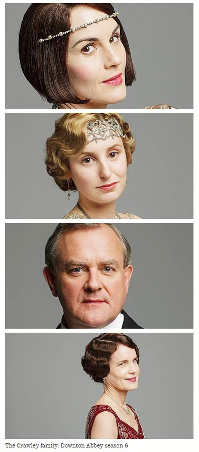 Downton Abbey Season 6 .. The Crawleys   ..Mary, Edith, Cora, Robert ..