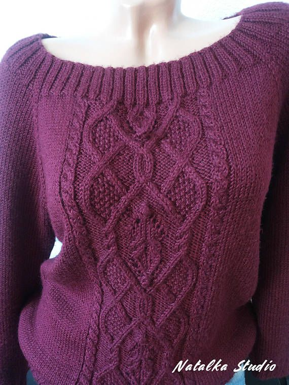 Knit Sweater Knitwear For Women Hand Knitted Sweater Pullover Autumn