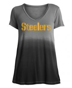 Pittsburgh Steelers Women's 5th & Ocean Stencil Short Sleeve T-Shirt
