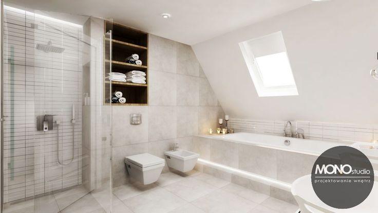 Jasne i świetliste wnętrze łazienki idealnie odzwierciedla jedną z głównych cech stylu skandynawskiego. Po więcej inspiracji zapraszamy na Naszą stronę internetową:biuro@monostudio.pl oraz na Facebooka