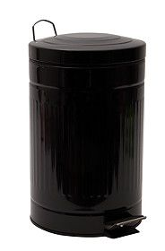 RIBBED PEDAL BIN, 12L