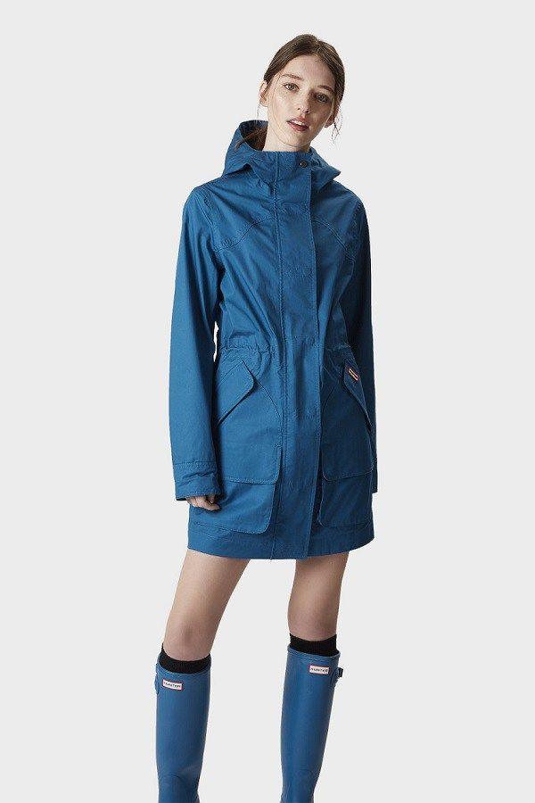 Women S Hunter Original Cotton Rain Coats Hunter Cotton Waterproof Jackets For Women The Untidy Closet Waterproof Jacket Women Warm Jackets For Women Rain Jacket Women