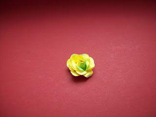 """Moje biurko: Kursik kwiatkowy I - """"Różyczka"""""""