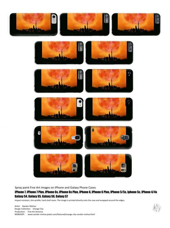 IPhone 7, IPhone 7 Plus, IPhone 6s, IPhone 6s Plus, IPhone 6, IPhone 6 Plus, IPhone 5 / 5s, IPhone 5c, IPhone 4 / 4s Phone Cases featuring the Orange City Fine Art spray painting by Nandor Molnar