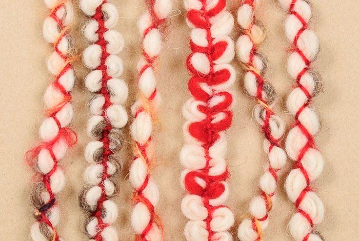 Мартеници от вълна - гривни