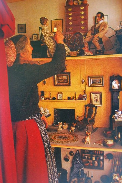 Tasha_Tudor_doll_house The parts about her doll house, puppet collection, and family rituals are so beautiful. Her four children were very lucky to have her as a mom.