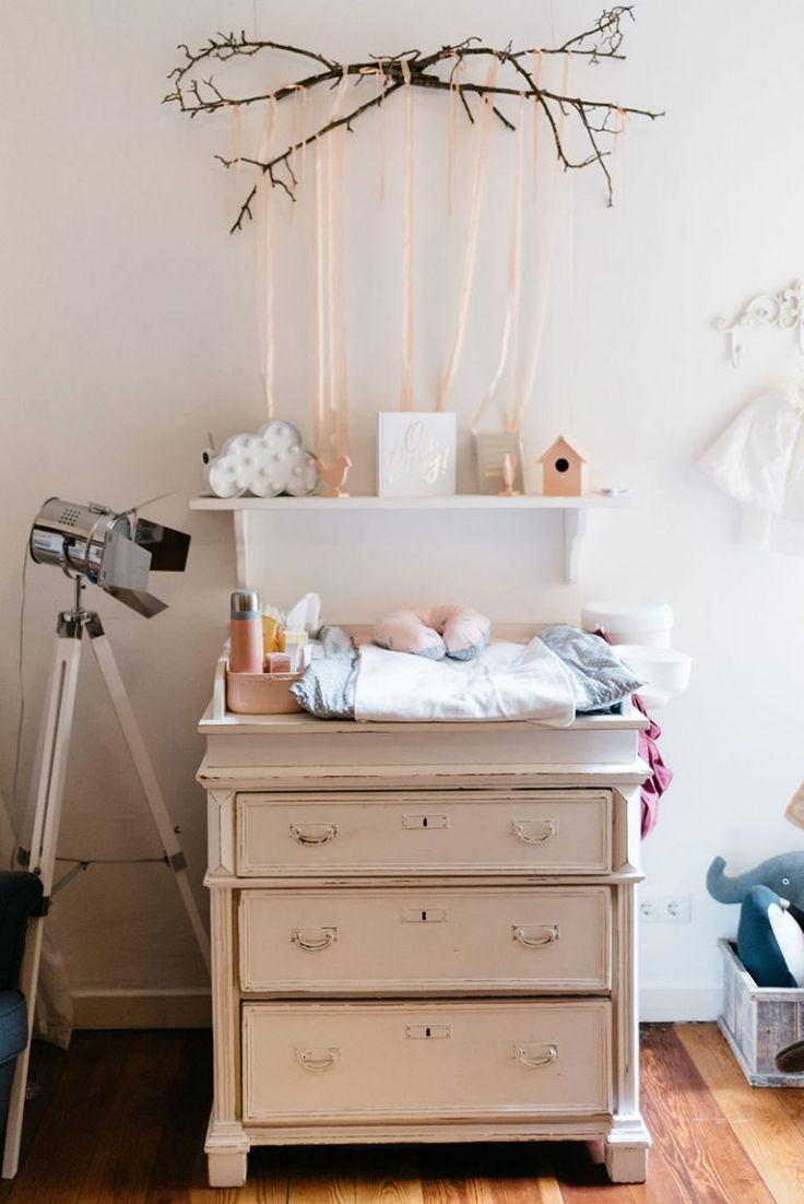 Vintage Wickelkommode Inspiration fürs Babyzimmer.   Wickeltisch ...