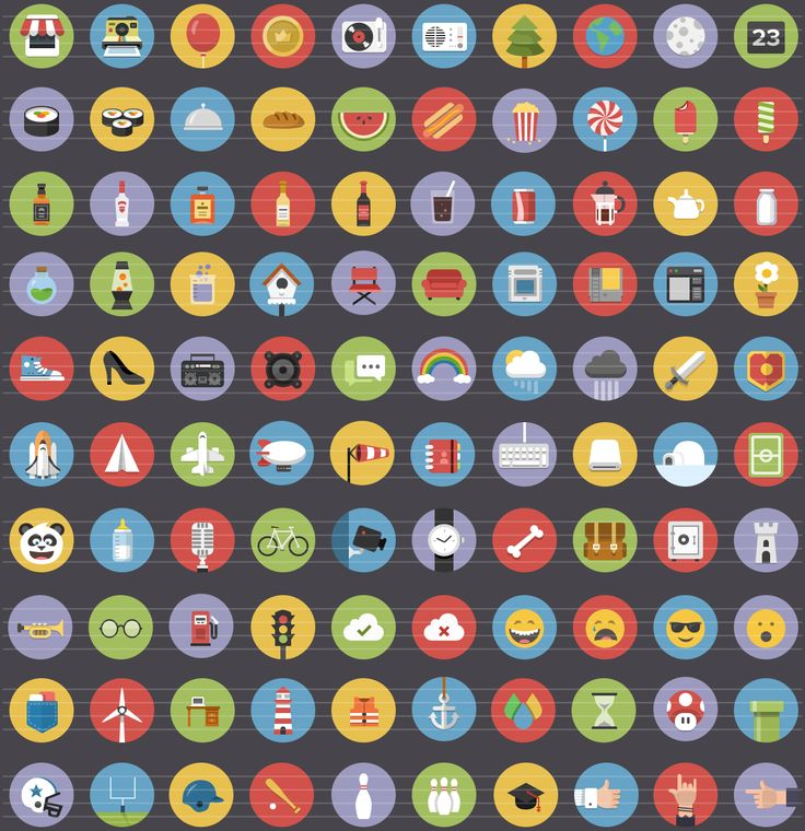 """Flatties"" collection of royalty free, flat icons"