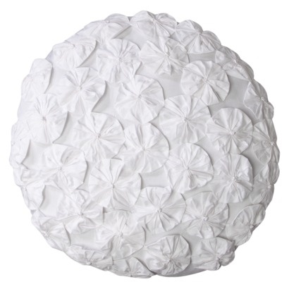 Target simply shabby chic pin wheel decorative pillow- make myself (with a round pillow to begin ...