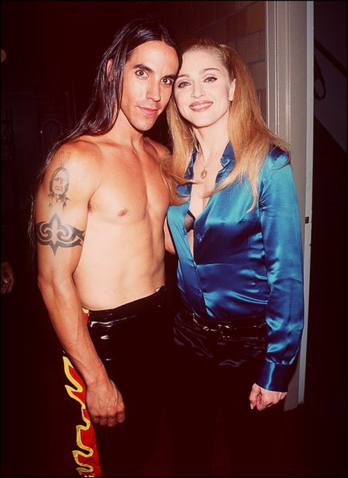 Anthony Kiedis and Madonna (1995) wow two of my favorite