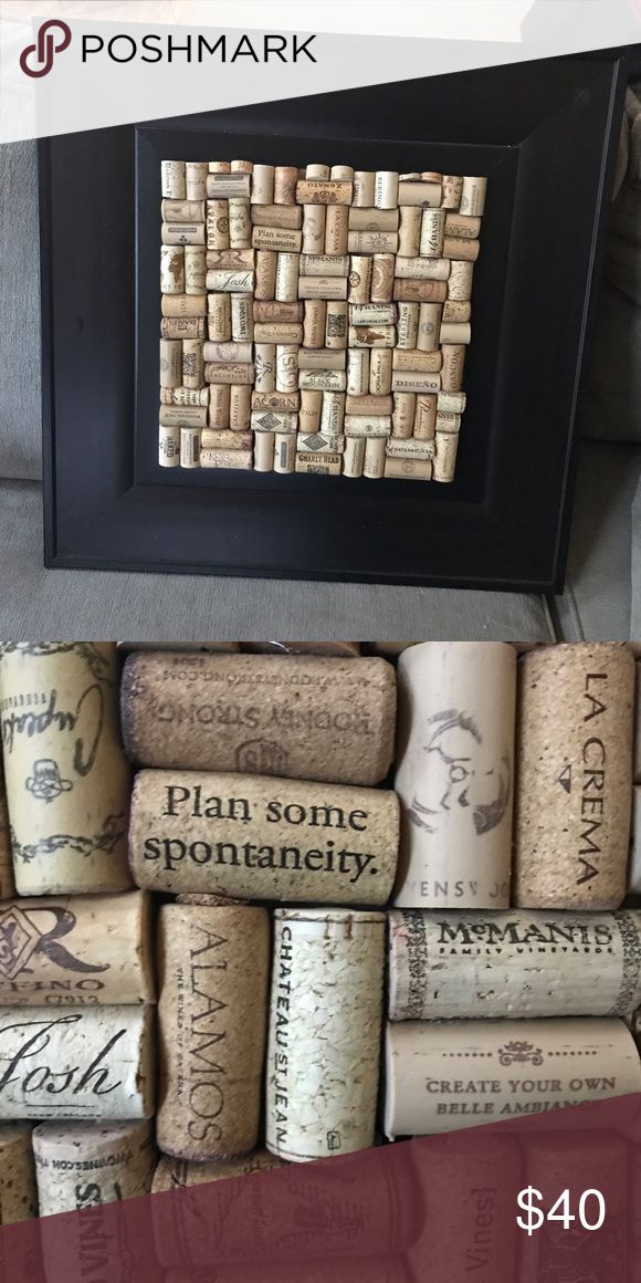 """Wine cork board 20"""" x 20"""" and cork area is 12"""" x 12"""" for home decor Other"""