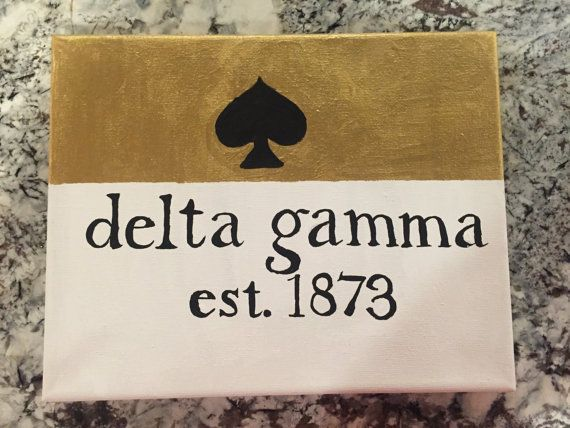 Kate Spade Sorority canvas Delta Gamma Alpha by CelestialOriginals
