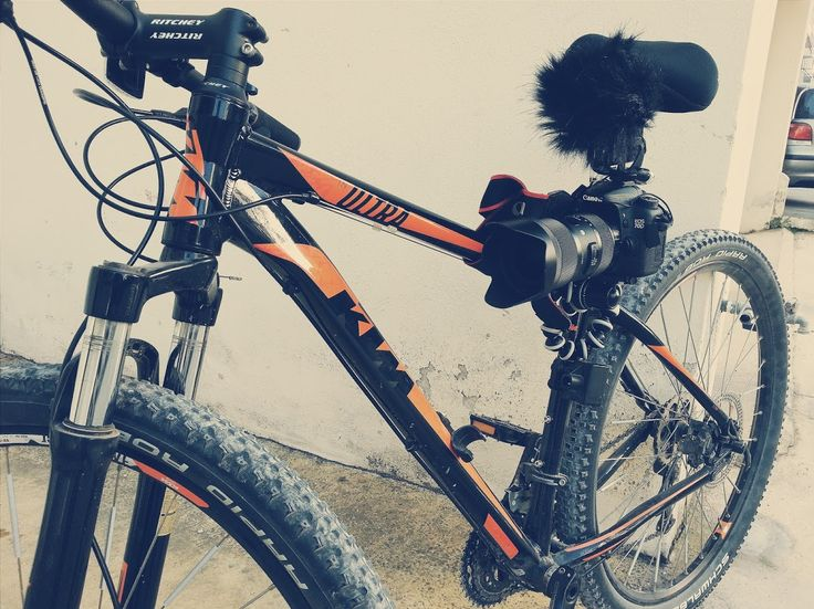 Added 2kg to my bike. Too bad I cannot ride this way. #filmmaking #gettingtheshot