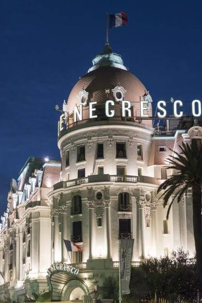 Das berühmte Hotel Le Negresco in Nizza