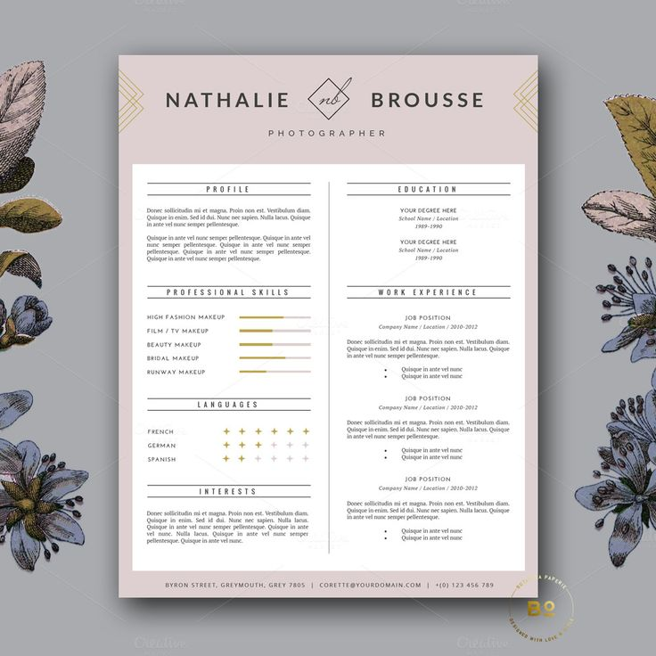 Resume + Cover Letter Template Resume templates, Resume cover - templates for resumes free
