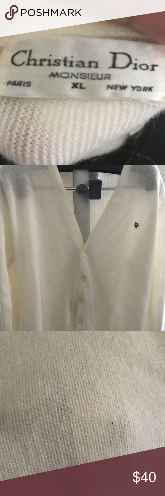 Men's Christian Dior Cardigan Still a lot of wear in this classic from Christian Dior.  Bundle with the others to save big.  Holidays are coming! Christian Dior Sweaters Cardigan