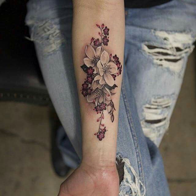 Gorgeous cherry blossom tattoo