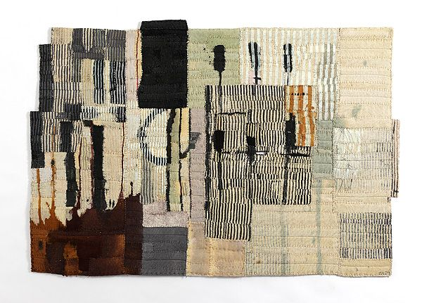 Matthew Harris Echo Each approximately 96 x 67 cm Dyed, cut and hand stitched cloth