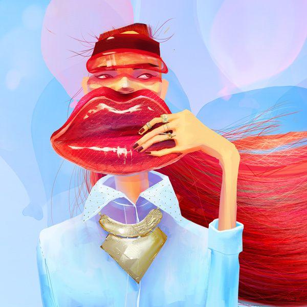 Fashion Illustrations by Natasha Shaloshvili, via Behance