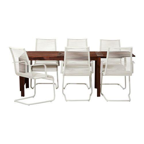 IKEA - ÄPPLARÖ / VÄSMAN, Table and 6 armchairs, $560 + $120