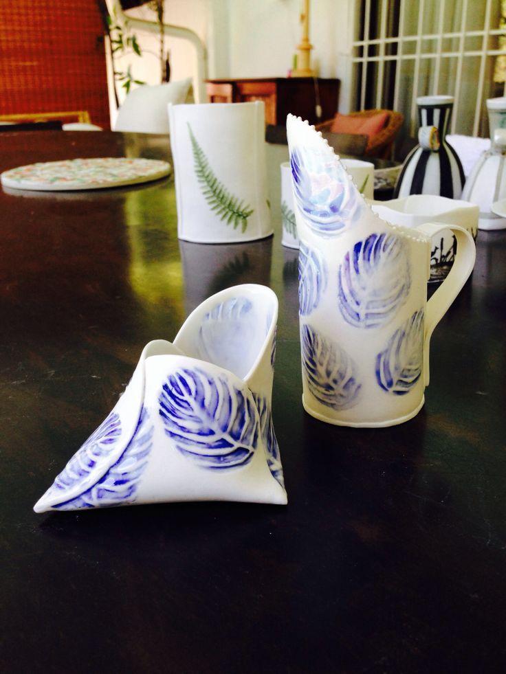 Folded paper porcelain