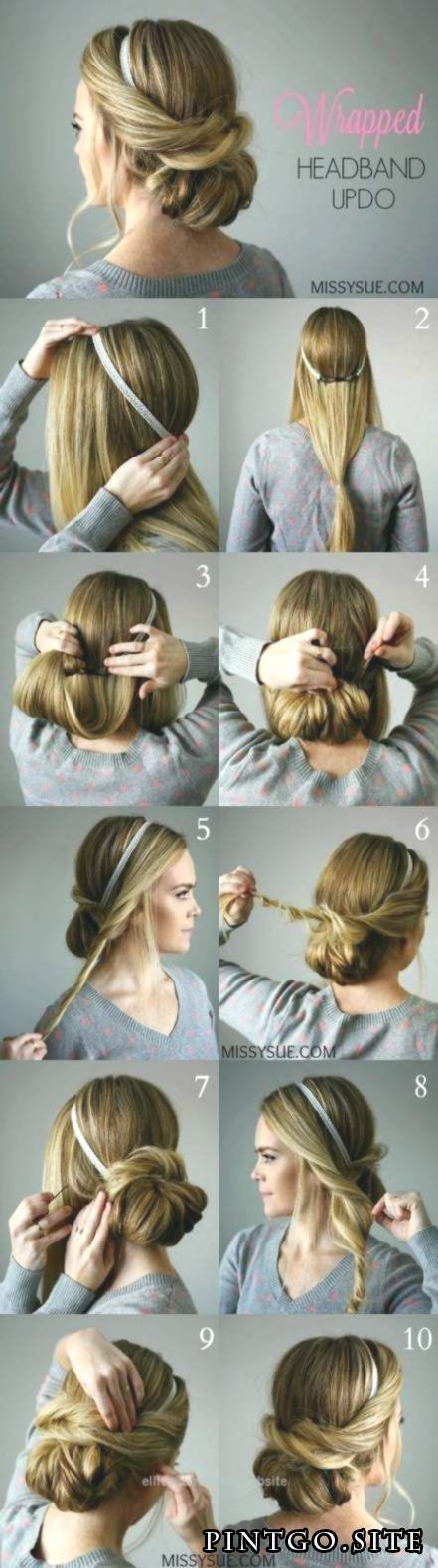 #Easy Hairstyles with headbands #For #Matte #Wedding Hairstyles #Ideen ..., #best ...