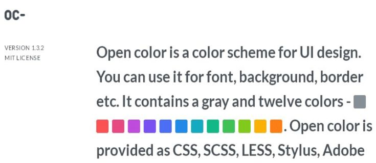 Open Color – Color Scheme For UI Design