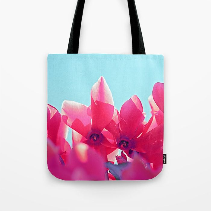 Buy Cyclamen blossom Tote Bag by maryberg. Worldwide shipping available at Society6.com. Just one of millions of high quality products available.