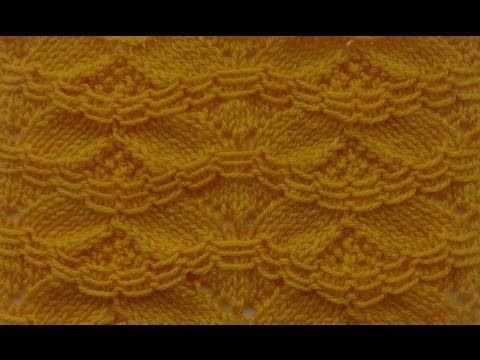 Узор со снятыми петлями. ◈◈◈ Вязание на спицах. ◈◈◈ - YouTube