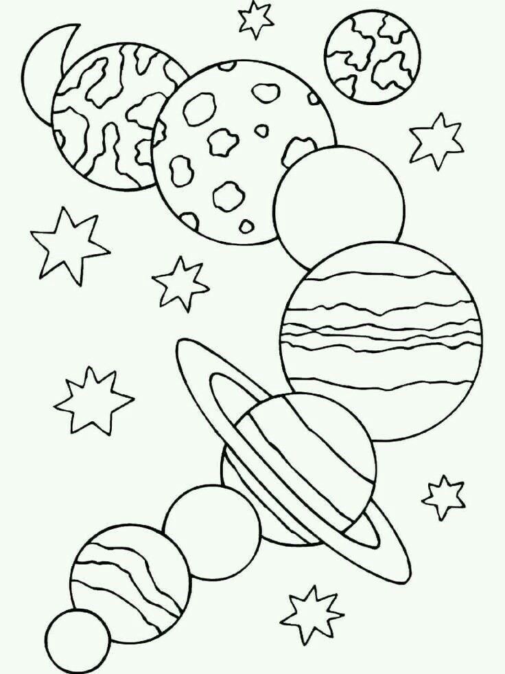Планеты раскраска для детей