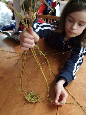 How to Make a Little Willow Basket - We like this project… you might find it listed as a Banneker Program in the future.