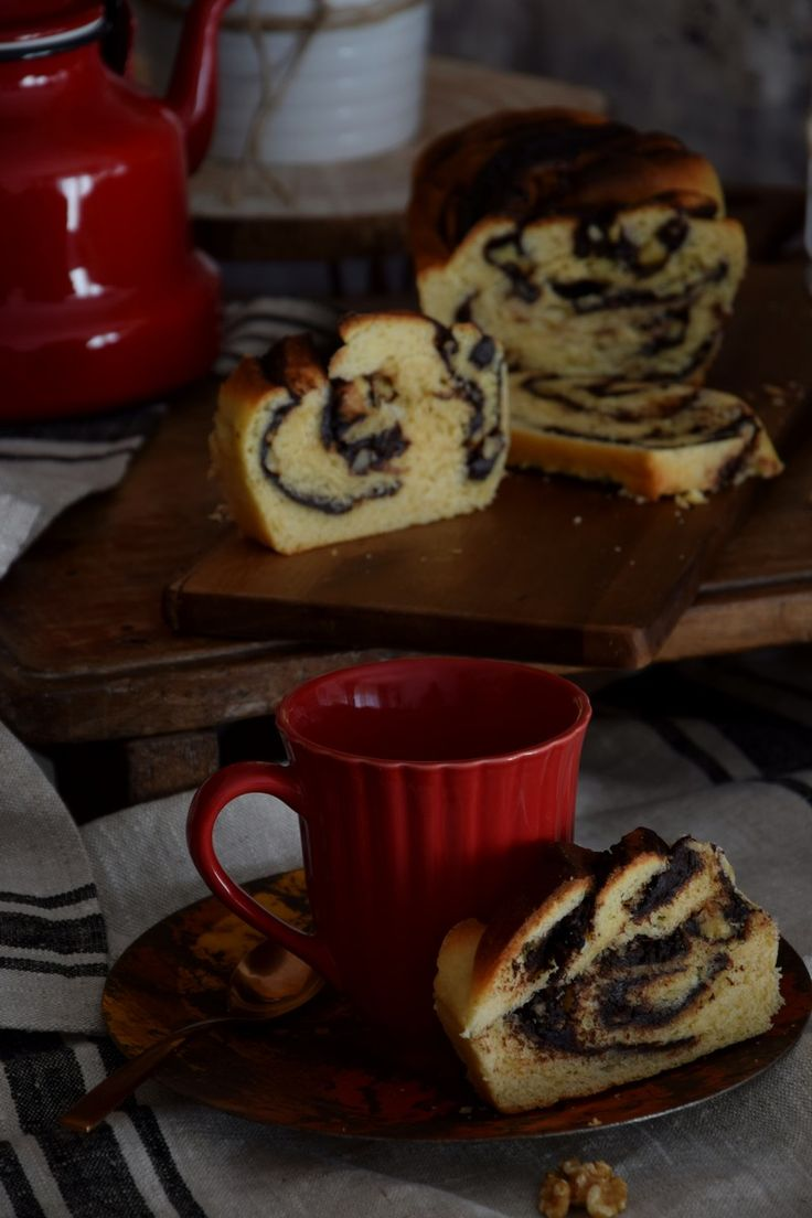 Babka de chocolate y nueces