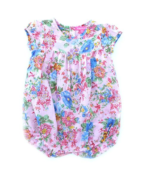 Sienna Romper  Little puff sleeves. Snaps for easy nappy change.  100% fine cotton.