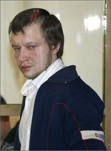 "Alexander Yuryevich ""Sasha"" Pichushkin (Russian: Алекса́ндр Ю́рьевич Пичу́шкин, born 9 April 1974 in Mytishchi, Moscow Oblast), also known as The Chessboard Killer and The Bitsa Park Maniac, is a Russian serial killer. He is believed to have killed at least 49 people and up to 61–63 people in southwest Moscow's Bitsa Park, where several of the victims' bodies were found."