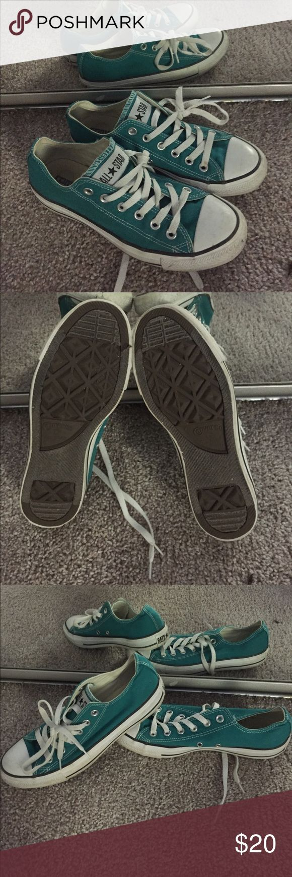 Women's turquoise Converse Converse All Star in turquoise. Great shoes that last forever. Converse Shoes Sneakers