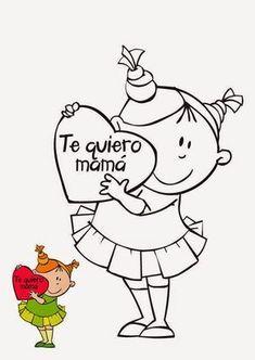 Maestra De Infantil Tarjetas Para Colorear En El Dia De La Madre