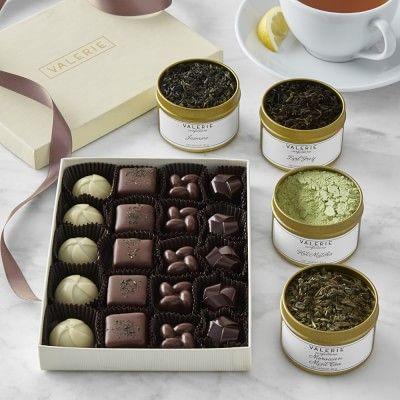 Valerie's Confections Chocolate & Tea Gift Set