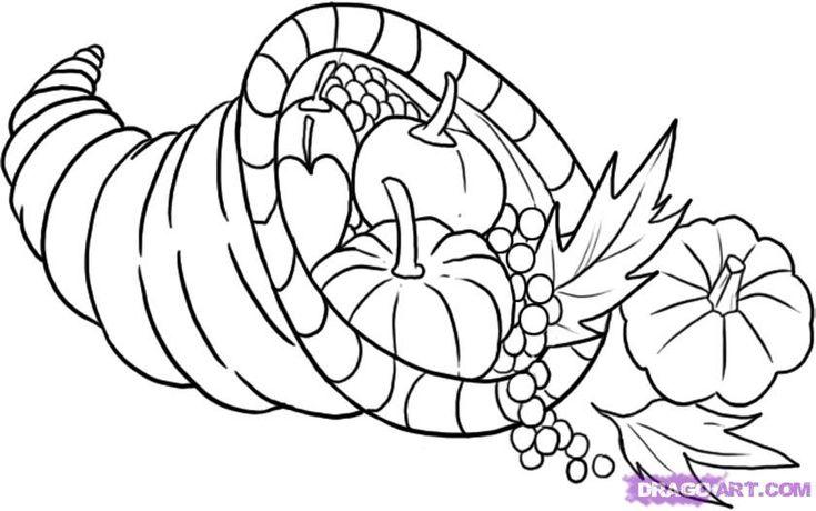cornucopia | How to Draw a Cornucopia, Step by Step ...